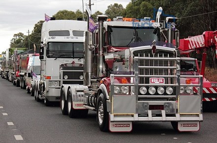 Trucks in Convoy