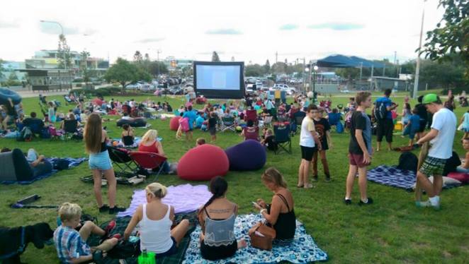 Coolum Beach Outdoor Cinema, FREE January flicks, movies, cinema, Northshore Realty, Coolum Business and Tourism, locals, tourists, Tickle Park. Saturdays, Coco, Jumanji Welcome to the Jungle, Paper Planes, picnic rug, picnic hamper, bean bag, chairs, summer nights, summer delights