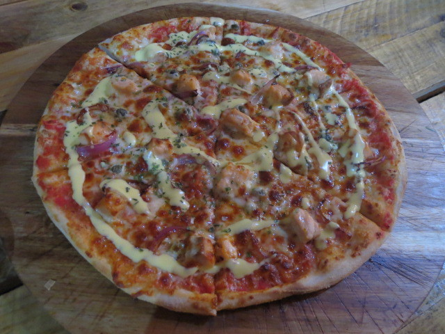 Crave Gourmet Pizza & Burger Bar, Smoked Salmon Pizza, Adelaide