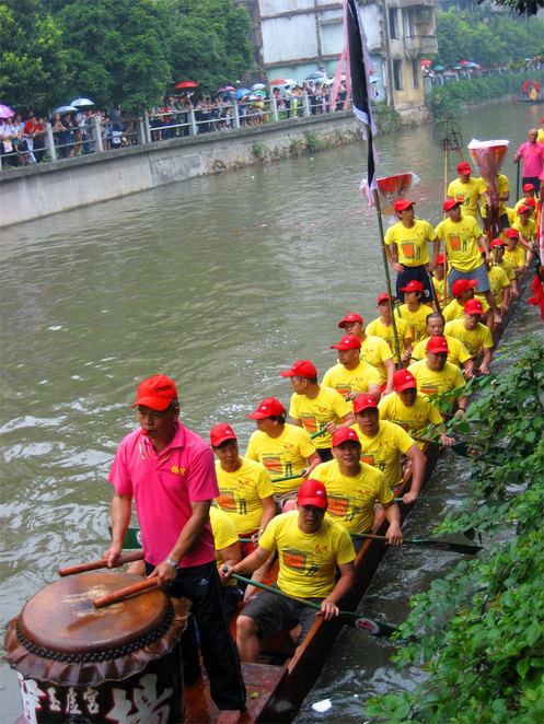 Traditional Dragon Boat in China