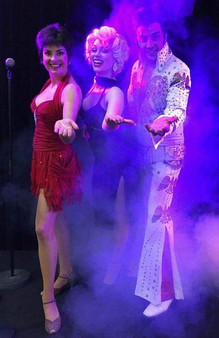 Elvis, Marilyn and Liza performing at The York on Lilydale on the 21st of October, 2017