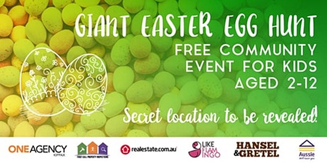 eventbrite, canberra, one agency, kippax, easter egg hunt, whats on, 2018, canberra, kids, family, children, activities, free,