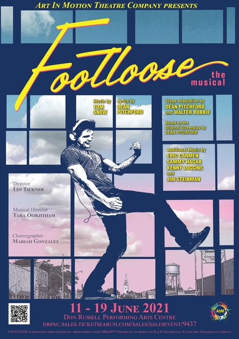 Footloose, musical, Don Russell Performing Arts Centre, Art in Motion Theatre Company, performing arts, dance, dancing, singing, Kenny Loggins, 1980s