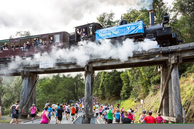 Great Train Race, fun run, Puffing Billy