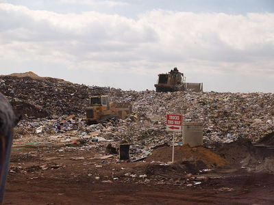 landfill, rubbish