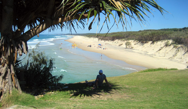 Main beach at North Stradbroke