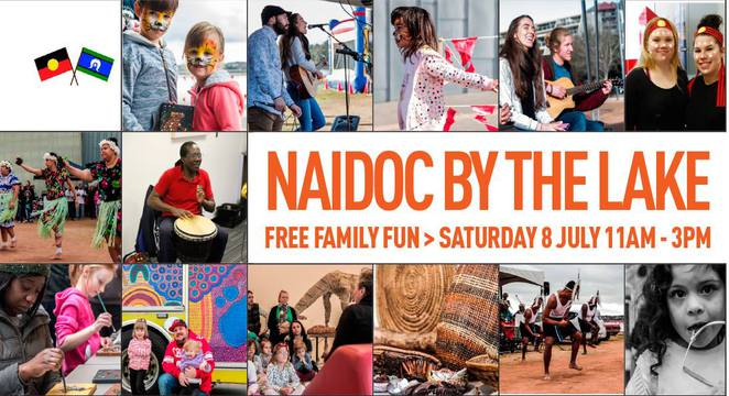 NAIDOC by the lake, belconnen art centre, ACT, canberra, lake ginninderra, aboriginal, torres straight islander,