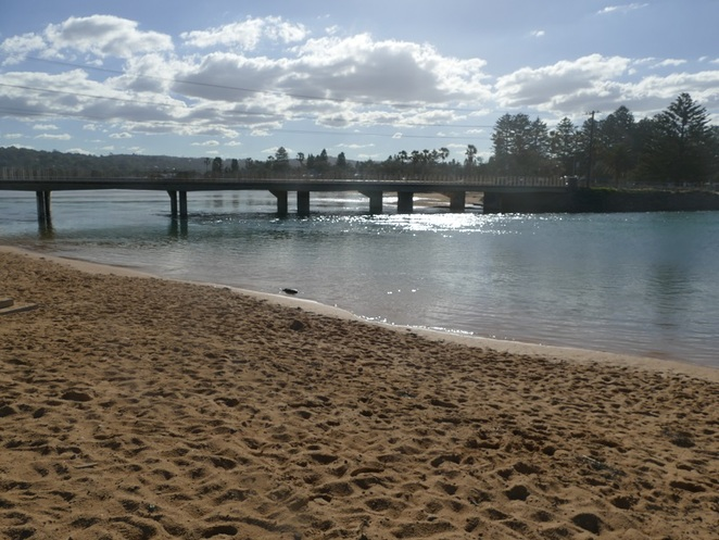 Narrabeen beach Lakeside Caravan Park, Bicentennial Walking Trail, Northern Beaches Sydney NSW