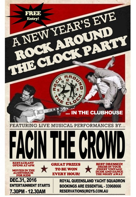 New Years Eve Rock and Roll poster