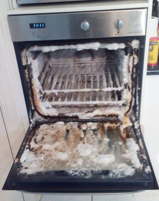 oven cleaning, spray cleaner, grease removal