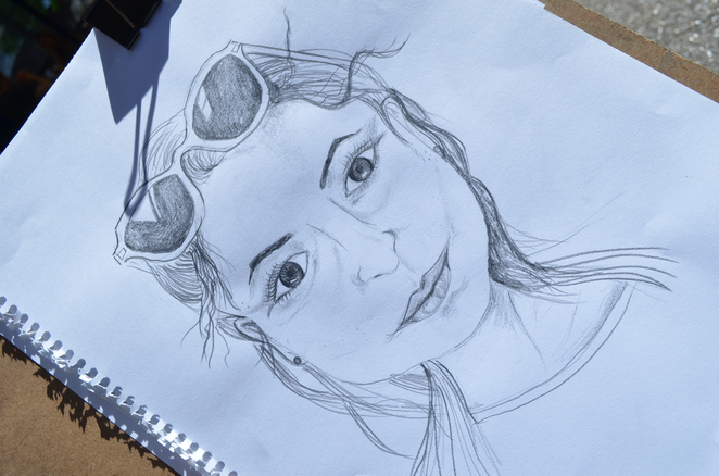 Portrait, Pencil Drawing,Yarra, Sketching, Secret Sketch Crawl, Art, Outdoor Sketching