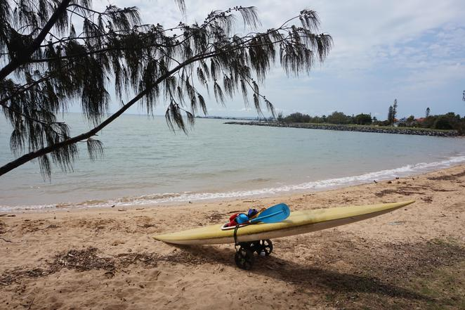 Ready for a paddle at Raby Bay