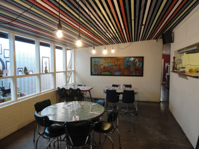 Tin Cat café Rundle Street Kent Town Adelaide coffee lunch brunch breakfast dinner Adelaide retro fifties furniture local Adelaide artwork