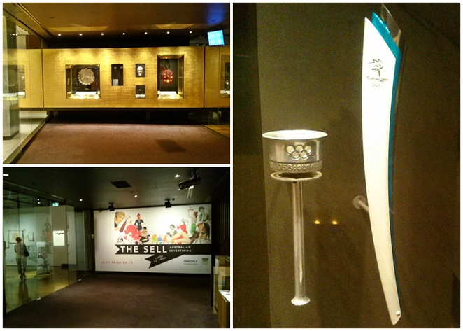 treasures gallery, national library of australia, ACT, canberra, olympic torches, parliamentary triangle,