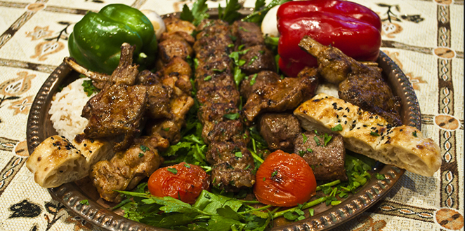 Turkish Restaurant, Chef's Platter for Two, Traditional Turkish Food