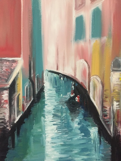 Venice,canals,painting,class