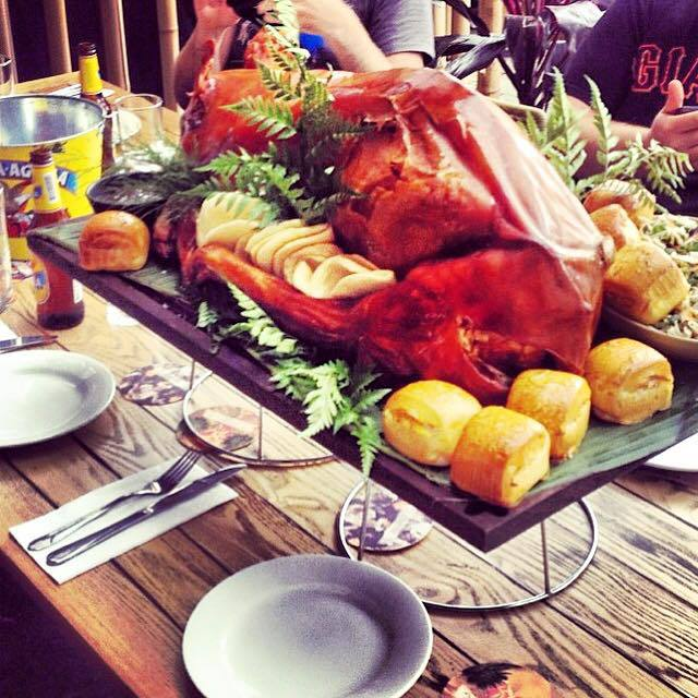 whole pig, whole roasted pig, bungalow 8, group dining sydney