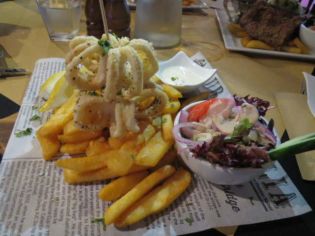 Woolshed on Hindley, Salt and Pepper Squid, Adelaide