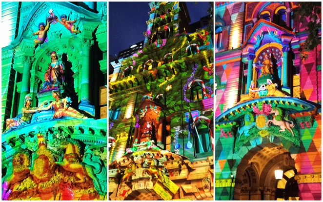 3D Projections, Christmas, Martin Place