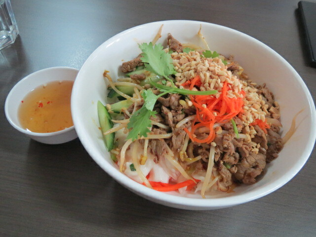 Baria Restaurant, Stir-fry Beef with Vermicelli Noodles, Adelaide