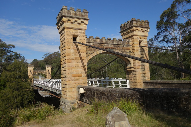 bridge,medieval,kangaroo,valley,hampden,nsw,shoalhaven,suspension,history,old