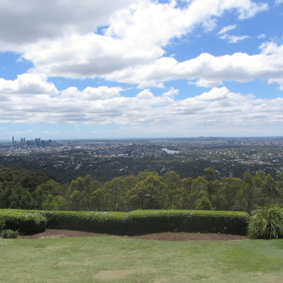 Brisbane city from the summit