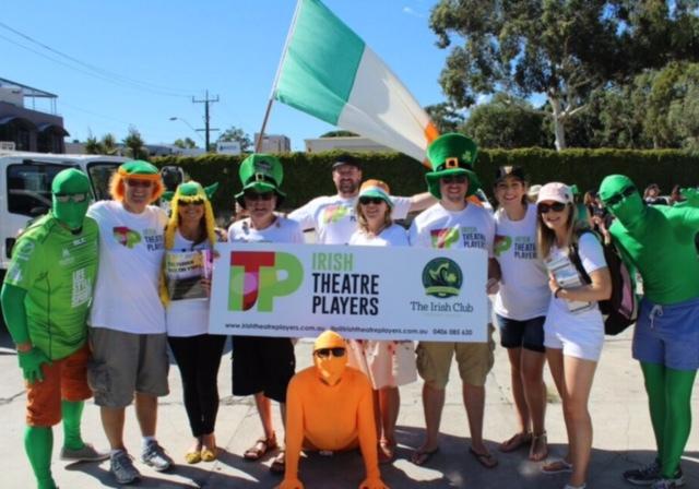 Cast of the Plough and The Stars at the St Patricks Day Parade Leederville 13 March 2016