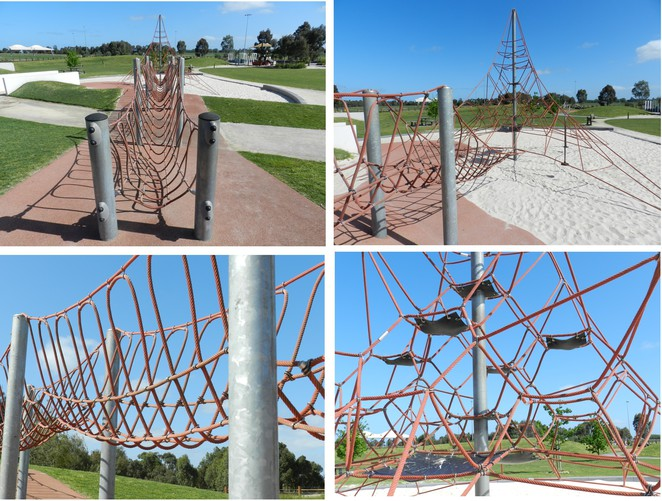 climing net, rope bridge, playgound equipment, playgrounds in Cranbourne, Playgrounds in melbourne, Playgrounds in Casey, Casey Fields,