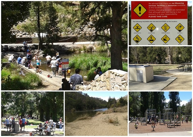 cotter reserve, cotter bend, casurina sands, canberra, ACT, murrumbidgee river, riverswimming, BBQs, picnic areas,