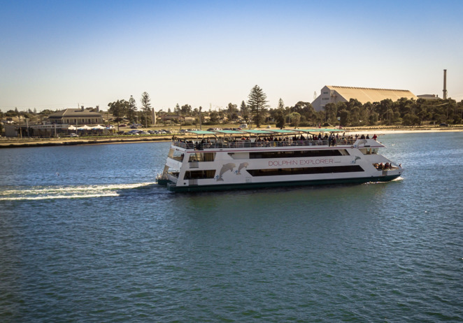 Enjoy a sunset cruise along the Port River onboard The Dolphin Explorer