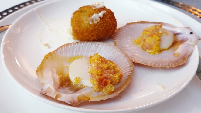 Entree, dinner, party, Brisbane, catering, chef, arancini, scallops, nightlife, entertainment
