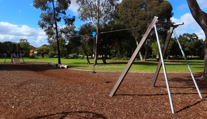 flying fox, perth, playground, neil mcdougall, manning, park, lake