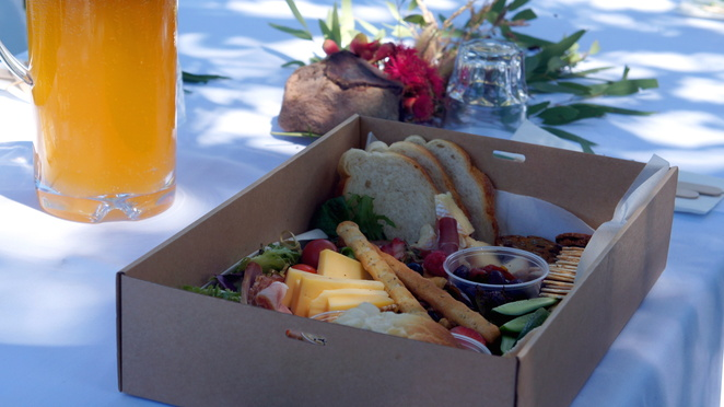 Lunch on the farm with catering by the Staging Post Cafe