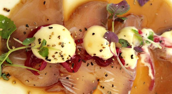 fort denison, fort denison restaurant, sydney restaurants with a view, kingfish carpaccio