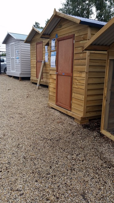 Garden sheds for level or uneven sites.