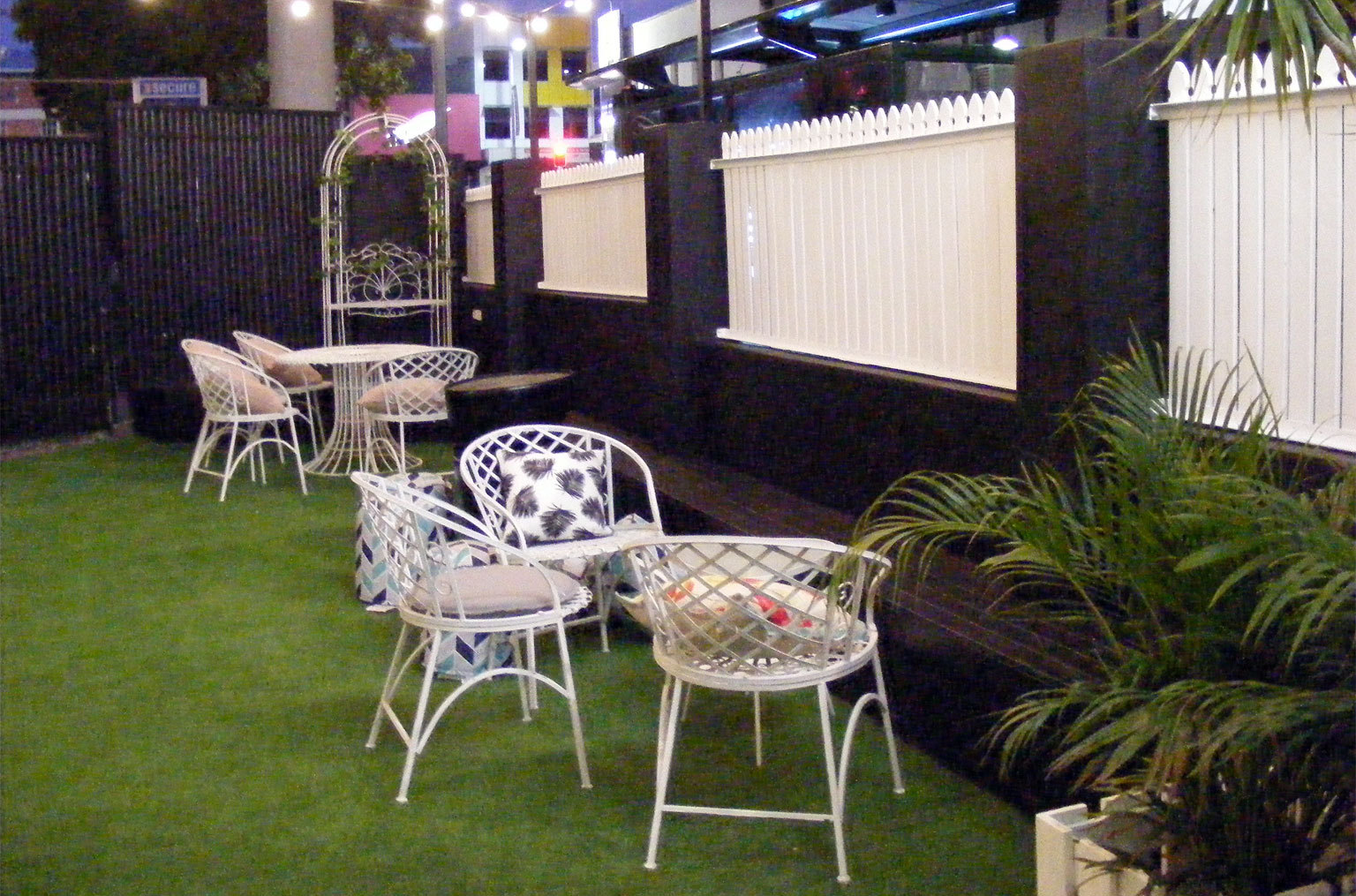 Outdoor Seating Area At Holey Moley Part 90