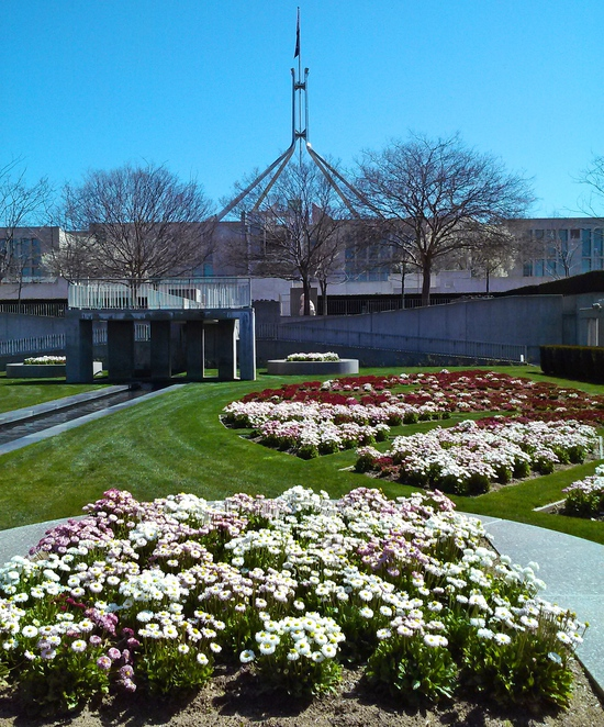 house of representatives formal garden, parliament house, canberra, ACT, events, weddings, gardens,