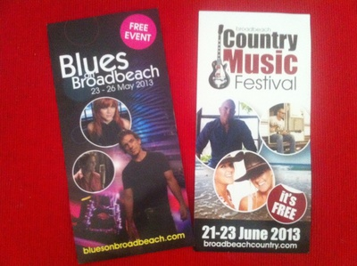 Grab a leaflet for more info. Jazz fest coming soon.