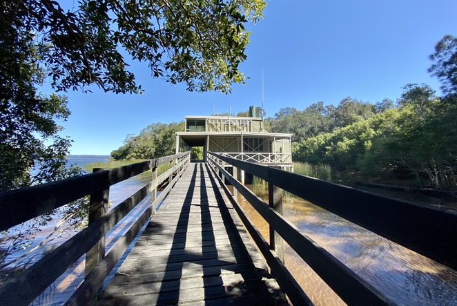Kinaba Visitor Information Centre in the Noosa Everglades