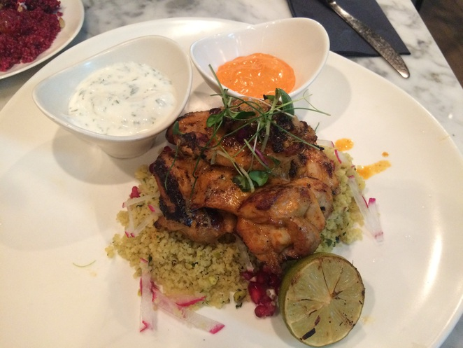 Leopold of London, chicken, cous cous, restaurant
