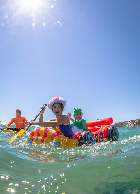 Manly Beach inflatable fun