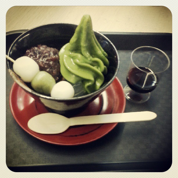 matcha anmitsu, chanoma cafe, sydney, george street, japan