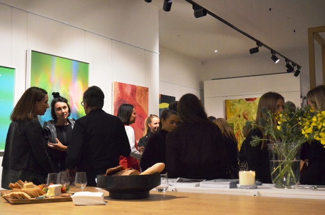Mix and mingle at Gallery Exhibition Opening