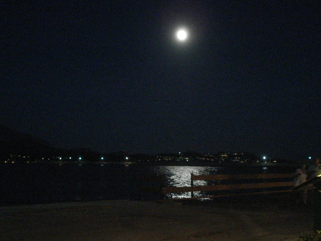 moonglow over argostoli bay