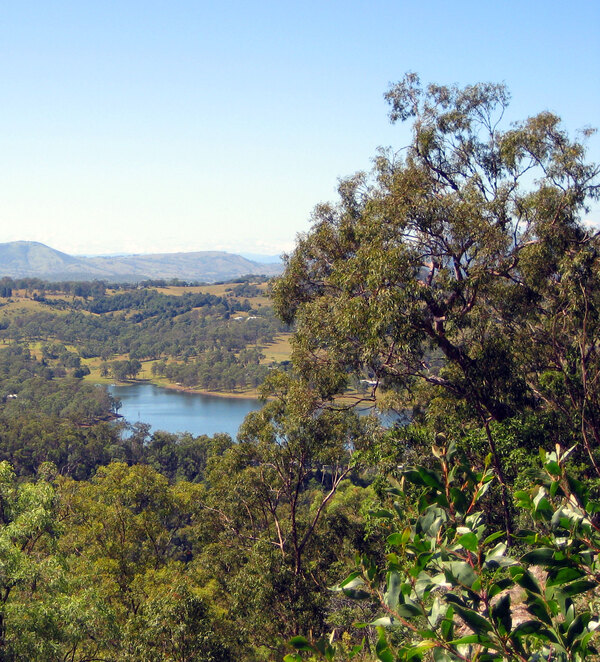 Moogerah seen from halfway up Mt Edwards