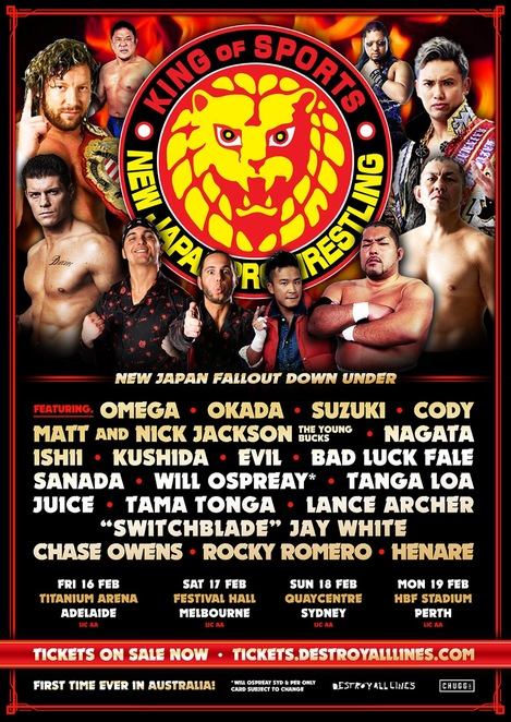 New Japan, Okada, Wrestling, NJPW, Destroy All Lines, Festival Hall, Melbourne,