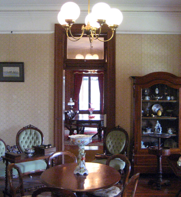The interior of Newstead House