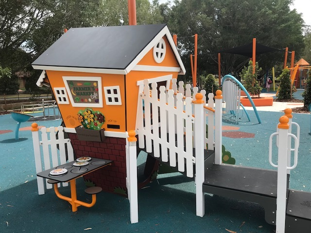 playground, all abilities, disability, arana hills, hills district, cubby house, house