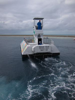Reefworld's Semi-Submersible glass bottom boat, Great Barrier Reef, The Whitsundays