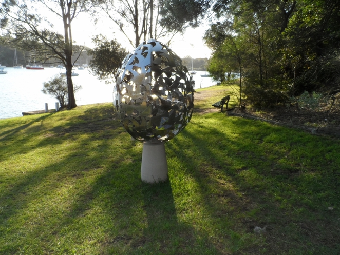 sculpture exhibition, sawmillers reserve, mcmahons point, sydney, sydney harbour foreshore, fragile piece